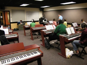 Digital Pianos in the Berklee School of Music Piano Lab