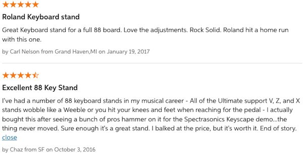 Roland KS-G8 Reviews – Screenshot