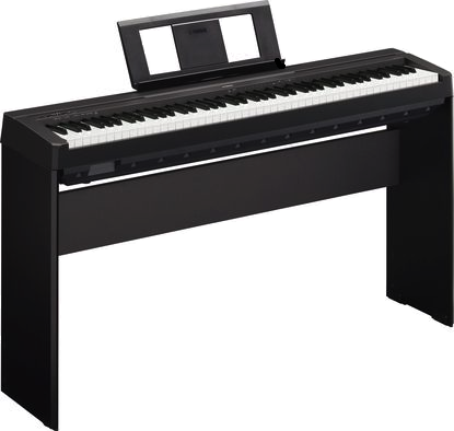 Yamaha P-71 (aka P-45) – shown with its official stand, the L85 furniture stand